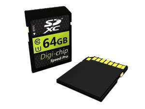 Digi-Chip 64GB CLASS 10 SDXC Memory Card £13.50 delivered @ Amazon and sold by Low Price Memory.