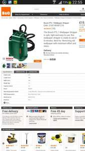 bosch PTL 1 Wallpaper Stripper was £40 now  £15 + £5 delivery @ B&Q