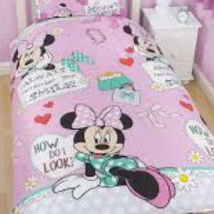 B&Q clearance Minnie Mouse single bedding set £3