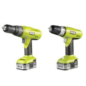 B&Q (Old Kent Road) Ryobi twin pack 14.4V cordless drill + driver + 2 x li-ion batteries + charger for £35