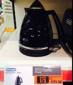 Delonghi Brillante Kettle Black 1/3rd off £33.32 @ Sainsburys Cheadle