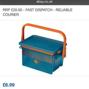 Strata Nursery Box Childrens Toy Box Toy Storage Box Toy Chest Trunk - £6.99 @ cheerfulbargainsltd ebay