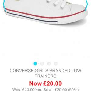 Converse Girl's Branded Low Trainers £20 @ Base Fashion