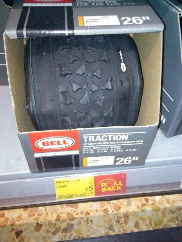 """Bell Kevlar 26"""" MTB Tyre, Asda Spondon, £5"""