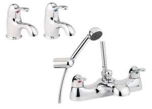 Deva Provence Chrome Basin & Bath Shower Mixer Tap Set - RRP £473 @ icaboodle ebay, £47.19 Delivered