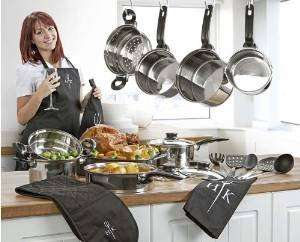 Ethos 19 Piece Kitchen Combo Set - Stainless Steel - Hells Kitchen Cookware Set - COMPLETE Set @ Sold by buyabargainuk and Fulfilled by Amazon - £47.15