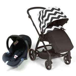 Mamas & Papas Sola 2 Pushchair + Car seat Package - Black Chevron - £249 @ Winstanleys Pramworld