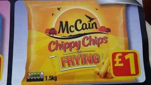 Farmfoods Mccain Chippy Chips for frying 1.5kg  at only £1