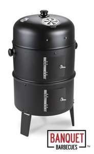 Banquet™ Savannah 3 in 1 Charcoal Barbecue Smoker and Firepit £34.99  was £99.99 save 65% @ Primrose