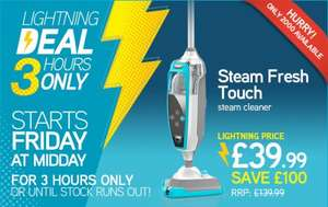 VAX 3 hour lightning deal this Friday at midday - Steam Fresh Touch Steam Cleaner @ £39.99 save £100.00!