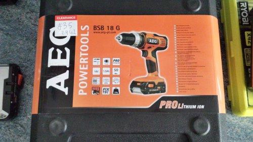 AEG bsb 18 g cordless percussion drill/driver £35 @ B&Q