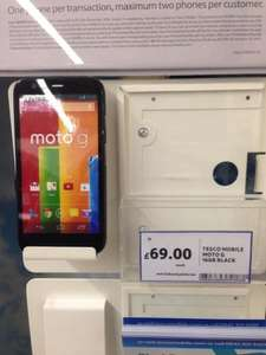 Motorola Moto G 16g Unlocked @ TESCO (IN STORE)  £69.00