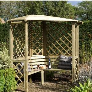 Blooma Chiltern Wooden Corner Arbour - B&Q instore - Was £270 Now £99