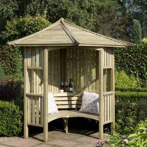 Blooma Solway Wooden Corner Arbour - B&Q instore - Was £360 Now £131