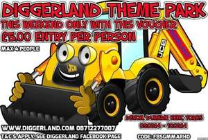 £5 entry to diggerland for a maximum of four people