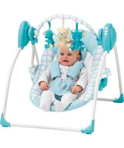 Chad Valley Deluxe Baby Swing- blue or pink. was £59.99 now £29.99 @ argos