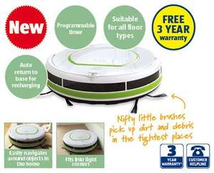 robot vacuum cleaner. Was £149.99 now £74.99 @ aldi from 14/08