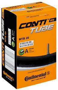 "Continental Mountain Bike Inner Tube - 26"" x 1.75"" - 2.5"" @ Halfords - £2.31 (Reserve & Collect)"