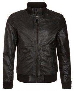 Hilfiger Denim Brewster Leather Jacket Blacj £124.80 down from £225 @ View-jepsons.com