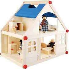 Wooden Dolls House With Dolls Was £24.99 Now £16.99 Plus £3.99 Delivery (free on £40 spend) @ Big Red Warehouse