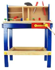 Large Wooden Workbench With Tools Was £29.99 Now £19.99 Plus £3.99 Delivery (free on £40 spend) @ Big Red Warehouse