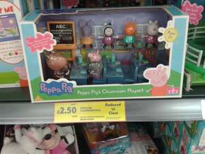 Peppa Pig Classroom Playset  Was £10 Now £2.50 Instore (Bidston) @ Tesco