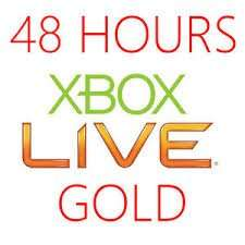 48 HOUR XBOX LIVE GOLD TRIAL CODE Facebook Required