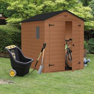 B&Q Blooma Double Door 8 x 6 Plastic Garden Shed £219 Reduced From £549.98 Instore @ B&Q