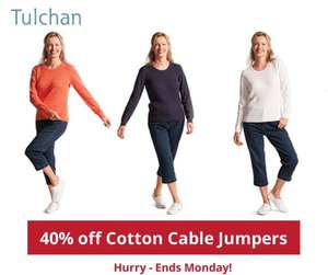 40% off Tulchan cotton cable jumpers