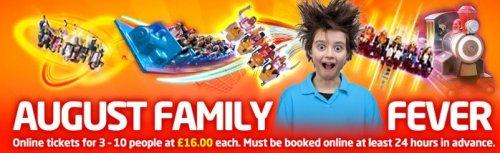Lightwater Valley £16pp (group of 3-10) + Familysummer (code) = £15 off