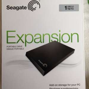 Seagate Expansion 1TB USB 3.0 Portable Hard Drive - Black £46.65 @ Sainsburys instore