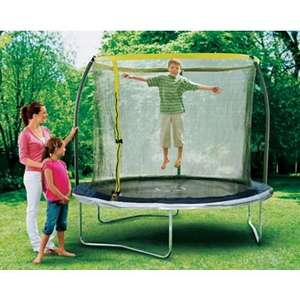 Sportspower 8 foot trampoline with enclosure, £59.99 in store at Homebase (I paid £54.99 using a £5 off coupon for reviewing a previous purchase),collected this morning.  Box still has £160 sticker on. Also store or home delivery for £3.95 (see below