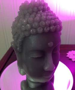 Buddha Head Candle, 40 Hours Burn Time, £1 at B&M Bargains