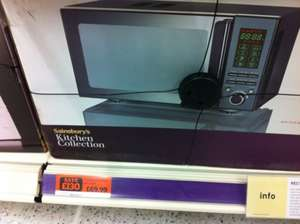 Sainsbury's Kitchen Collection 23L Combi Microwave £69