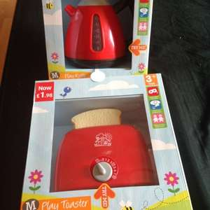 Morrisons toy kettle or toaster £1.98 each!