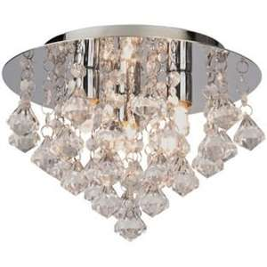 Droplet Flush Ceiling Light - Clear, Also In Black And Champagne Options @ Argos, Half Price £19.99, 25% Off Code Available Till 12th August