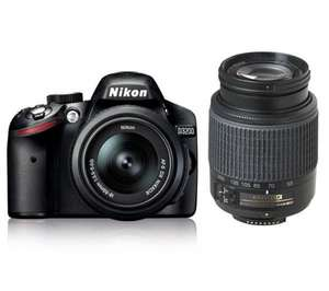 NIKON D3200 DSLR Camera with 18-55 mm + 55-200 mm Telephoto Zoom Lens @ currys for £379.00
