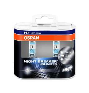 Osram H7 Night Breaker Unlimited Car Headlight Bulbs (Twin Pack) £12.33 delivered @ Amazon.co.uk