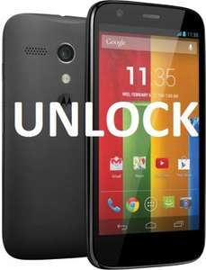 Unlock Code for Motorola Moto G Mobile Phone @ ebay / Simons Empire --99.9% Positive Feedback - £1.69