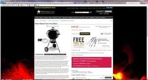 Weber Mastertouch 57cm including free tool set from BBQ World for £168.74