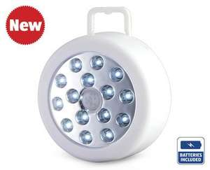 15 led motion sensor light @ aldi £4.99 from 14th August