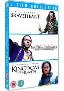 Braveheart & Master and Commander & Kingdom Of Heaven (DVD - 3 Film Collection) @ Tesco - £3