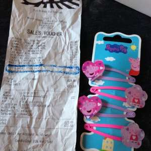 Peppa pig clips  10p from b&m