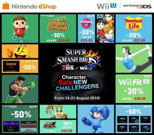 Nintendo 3DS and Wii U eShop Super Smash Bros. related offers