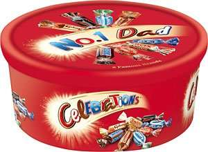 750g tin of chocolate Celebrations at Tesco for £2