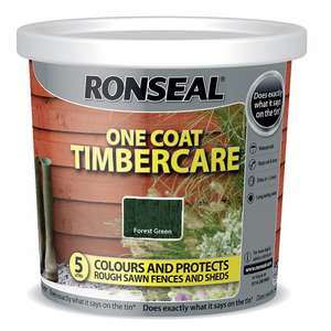 Ronseal OneCoat Timbercare Fence Treatment 5L (Instore Only) £3 @ asda