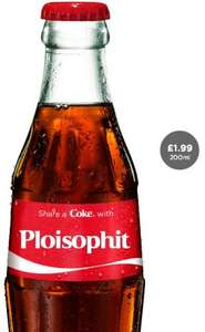 "Personalised glass ""Share a Coke"" bottles £1.99 + £2.95 p&p free delivery if you order 6+! @ Coca-Cola"