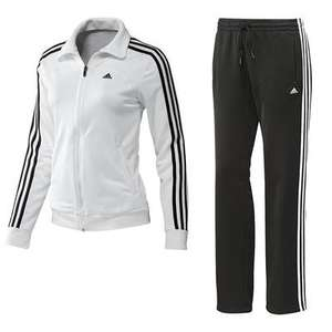 adidas Women's ClimaLite tracksuit black and white £15.65 @ Amazon