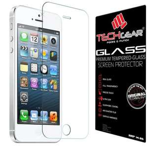 TECHGEAR® Tempered Glass Screen Protector Guard Cover (iPhone 5s/5c/5) £3.95 @ Amazon  sold by TECHGEAR Solutions. 74% off + Free Delivery!