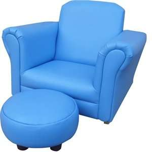 Children's blue rocking chair with foot stool £29.99 @ Home Bargains